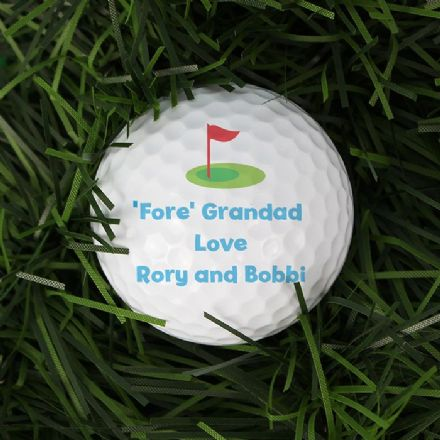 Personalised Golf Ball -  Flag